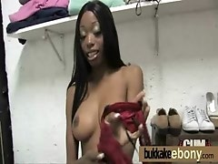 Bukkake coated ebony hottie 16