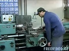 Busty Czech Girl Fucked On Lathe