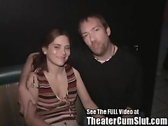 Horny Ass Wife Let Loose In Porn Theater