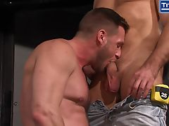 Muscle Stud Coworkers Get Rough at Sex Club